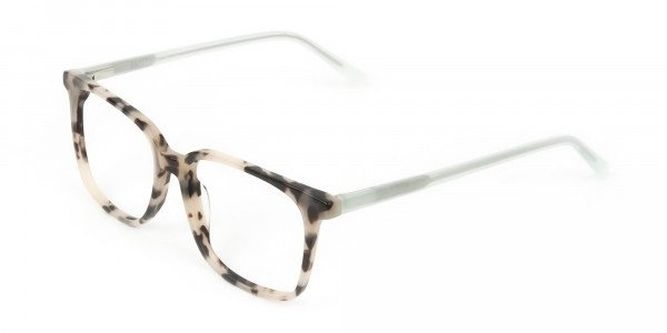Crystal Teal Green Creamy Tortoise Glasses - 3