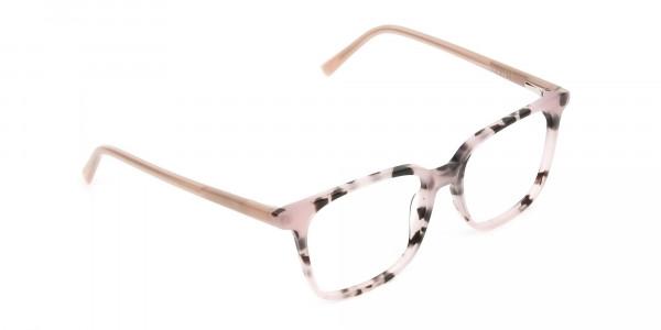 Wayfarer & Square Nude Tortoise Glasses - 2