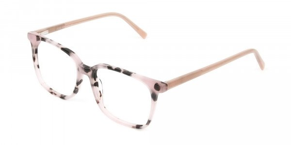 Wayfarer & Square Nude Tortoise Glasses - 3