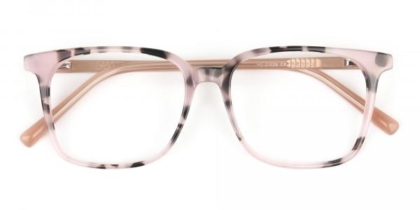 Wayfarer & Square Nude Tortoise Glasses - 6