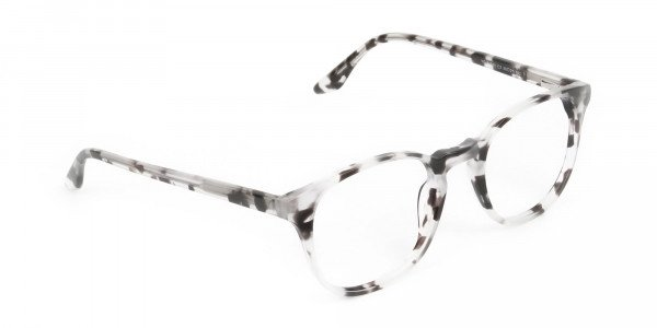 Marble Grey Glasses Frames in Wayfarer - 2
