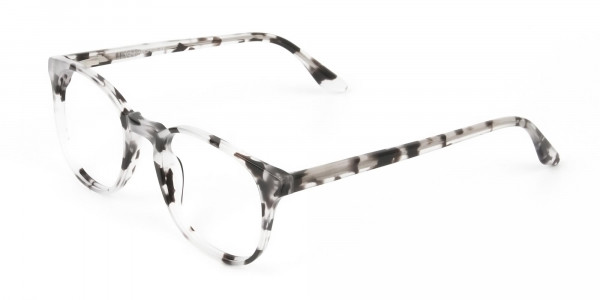 Marble Grey Glasses Frames in Wayfarer - 3