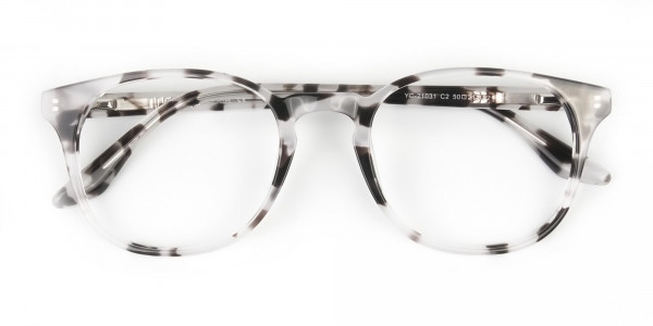 Marble Grey Glasses Frames in Wayfarer - 6