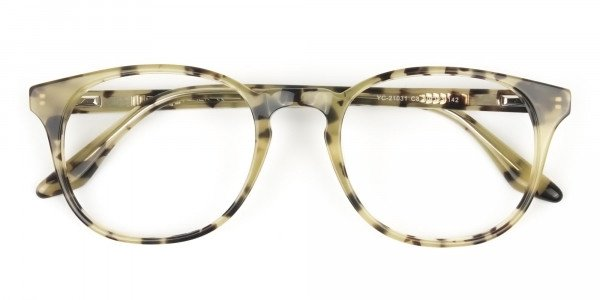 Keyhole Marzipan Tortoise Eyeglasses in Wayfarer - 6