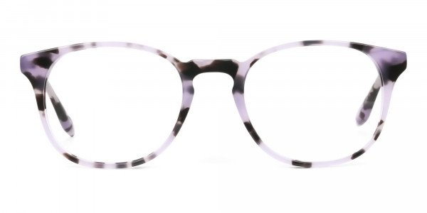 Keyhole Pastel Purple Tortoise Glasses in Wayfarer - 1
