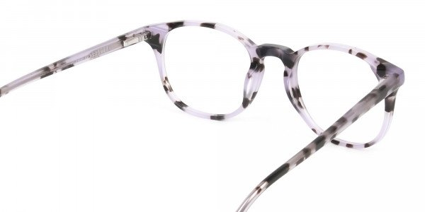 Keyhole Pastel Purple Tortoise Glasses in Wayfarer - 5