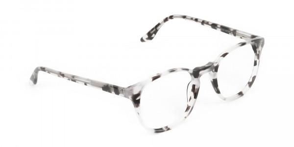 Marble Grey Glasses Frames in Wayfarer - 2