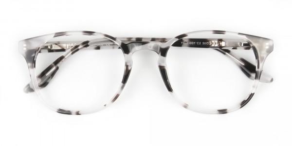 Marble Grey Glasses Frames in Wayfarer - 6