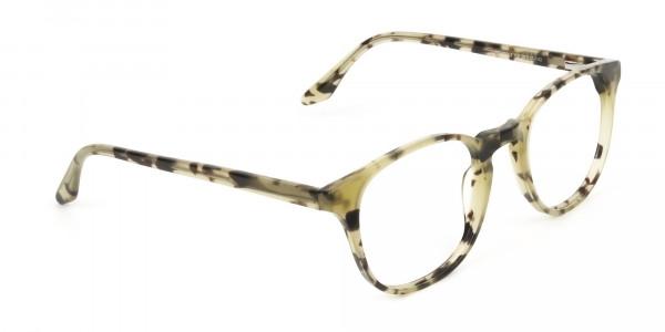 Keyhole Marzipan Tortoise Eyeglasses in Wayfarer - 2