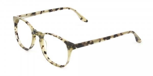 Keyhole Marzipan Tortoise Eyeglasses in Wayfarer - 3