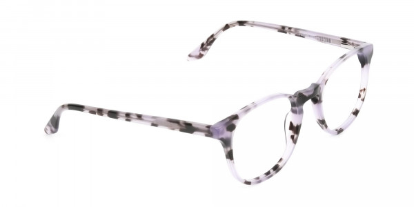 Keyhole Pastel Purple Tortoise Glasses in Wayfarer - 2