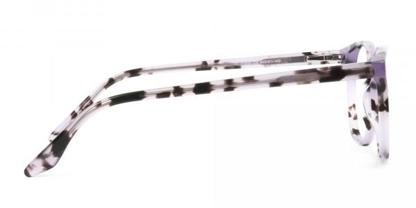Keyhole Pastel Purple Tortoise Glasses in Wayfarer - 4