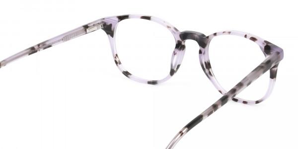 Keyhole Pastel Purple Tortoise Glasses in Wayfarer - 5