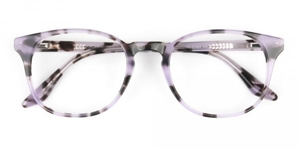 Keyhole Pastel Purple Tortoise Glasses in Wayfarer - 6