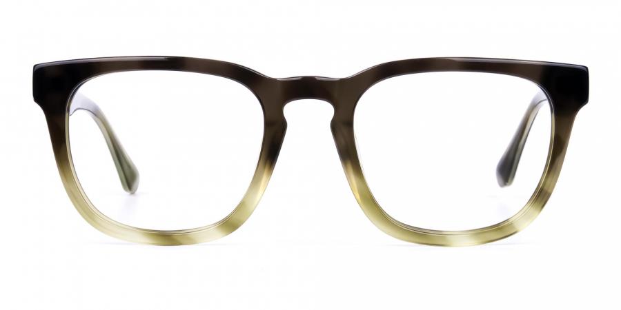 Green Wayfarer Glasses Frame