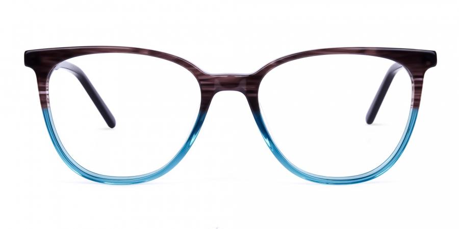 green cat eye frames