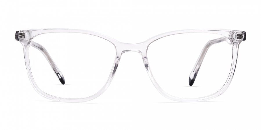 Transparent Wayfarer Rectangular Glasses Frames