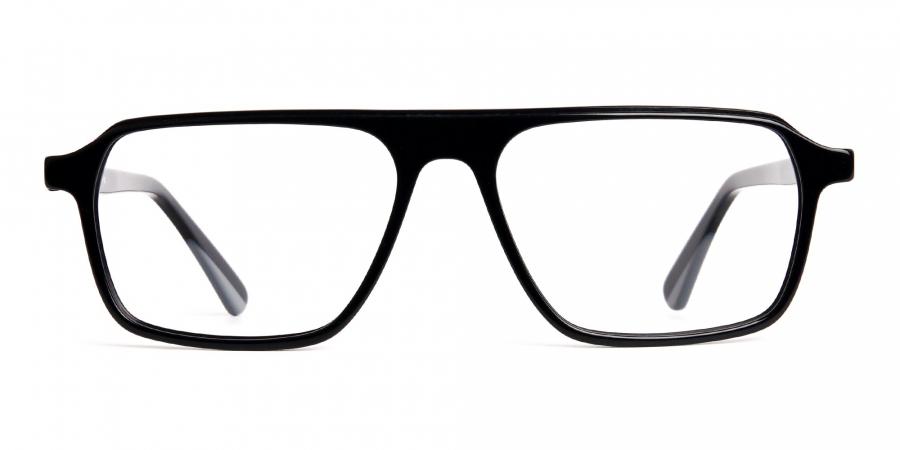Dark Black Rectangular Full Rim Glasses frames