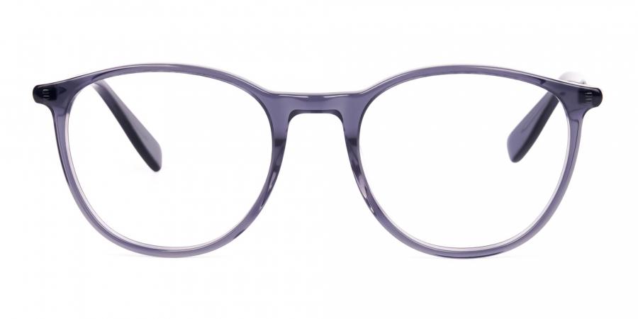 Dusty Grey Round Full Rim Glasses