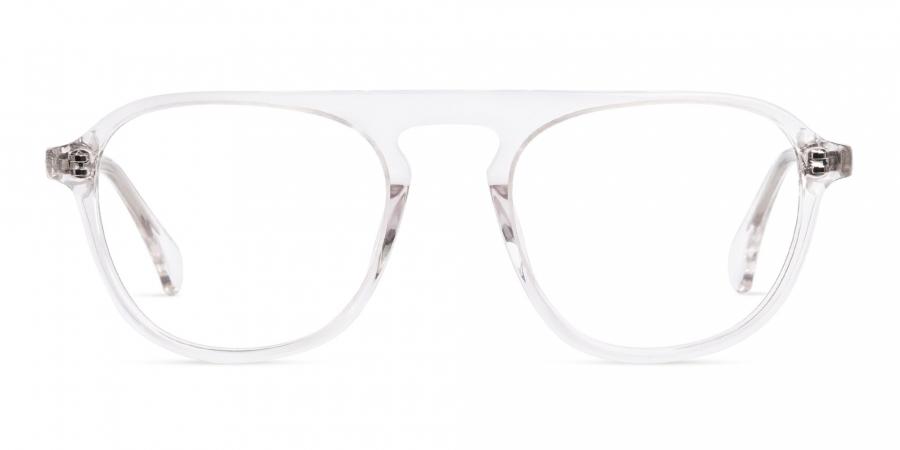 crystal clear or transparent wayfarer full rim glasses frames