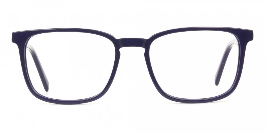 Lightweight Royal Blue Sport Style Rectangular glasses
