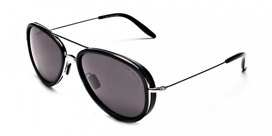 Black and Silver Multi Material Sunglasses