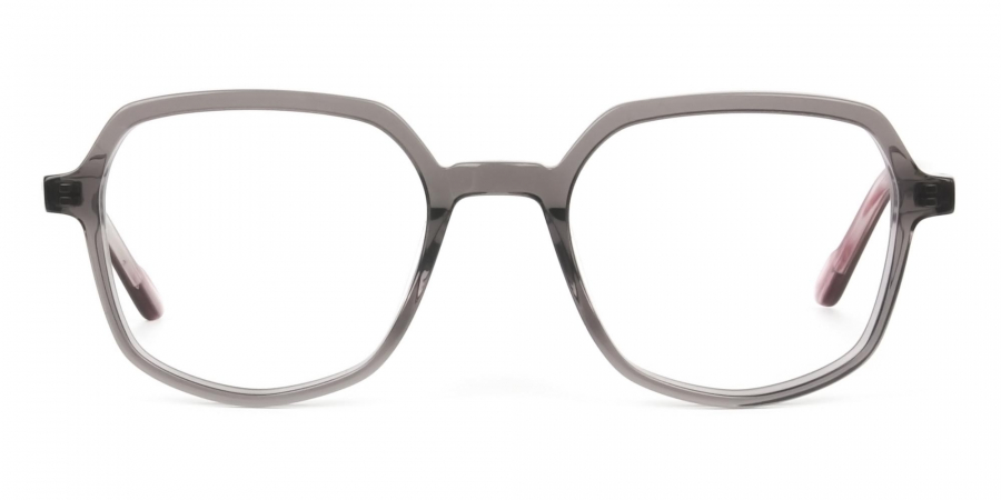 Geometric Heptagon Glasses in Grey Red
