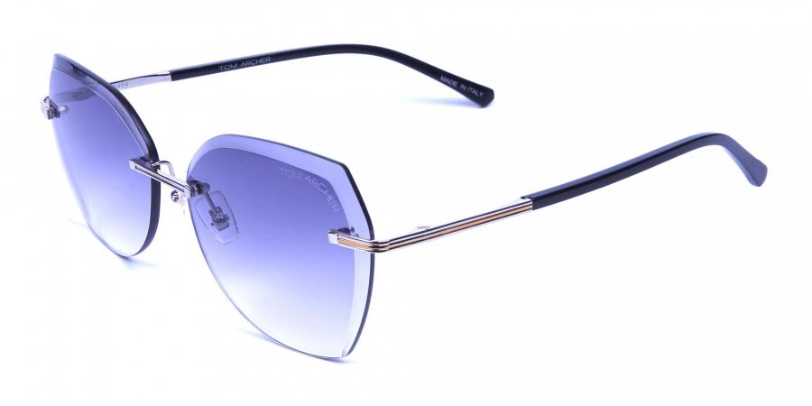 Brown Rimless Sunglasses in Wayfarer and Aviat