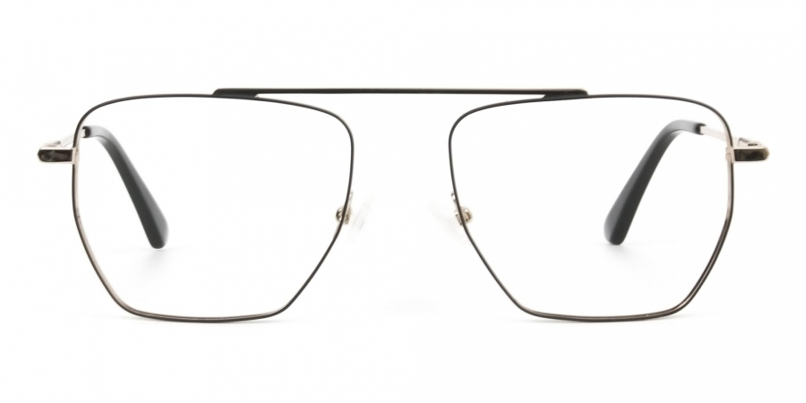 Black  and Gold Aviator  Wire Frame Glasses Men Women