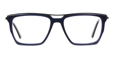 Mixed Material Glasses in Gunmetal Navy Blue