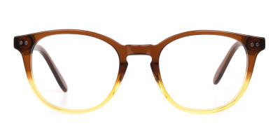 Crystal Brown & Honey Havana Two Tone Glasses