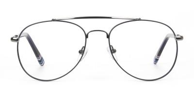Aviator Gunmetal Dark Blue Fine Metal Glasses