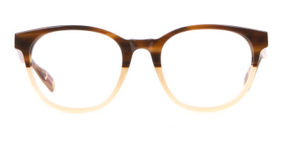 TED BAKER TB8197 Cade Glasses Classic Round Brown & Honey