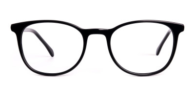 Black Full Rim Round Glasses Frames