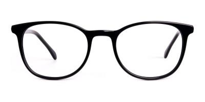 Black Full Rim Round Glasses Frames