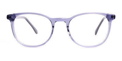 Crystal Space Grey Full Rim Round Glasses Frames