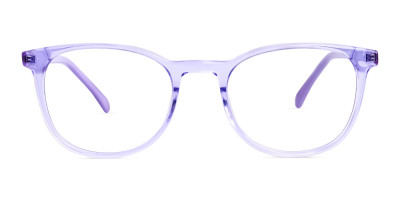 Crystal Pastel Purple Round Glasses Frames