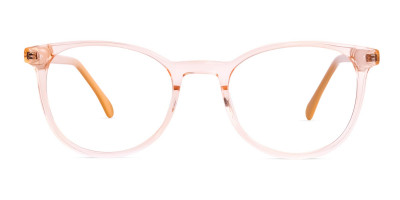 transparent orange Color Round Glasses Frames