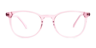 Crystal and transparent blossom Pink Round Glasses Frames