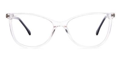 Crystal Clear Transparent Cat eye Glasses Frames