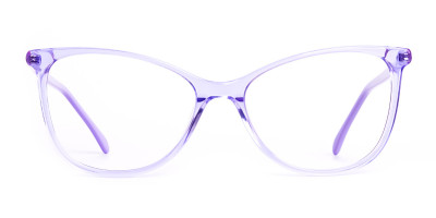 Crystal Pastel Purple Cat eye Glasses Frames