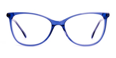 dark blue cat eye glasses