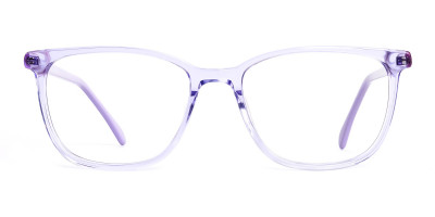 Purple Wayfarer and Rectangular Glasses Frames