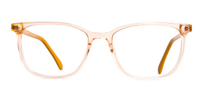 Crystal Clear Orange Wayfarer Rectangular Glasses Frames
