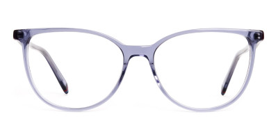 Crystal Dark Grey Cat eye Glasses Frames
