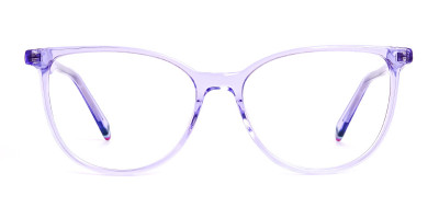 Light Purple Crystal Cat eye Glasses Frames