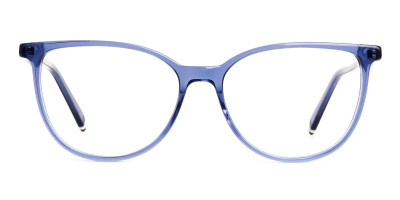 Blue Transparent Cat eye Glasses Frames