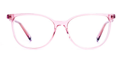 Crystal Pink transparent Cat eye Glasses Frames