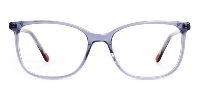 transparent grey wayfarer cateye round glasses frames