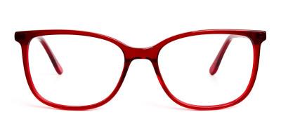 dark and red wayfarer cateye glasses glasses frames
